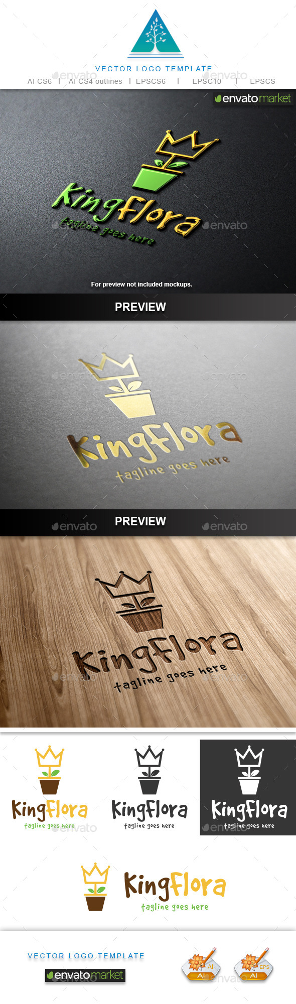 GraphicRiver King Flora Logo 9747201