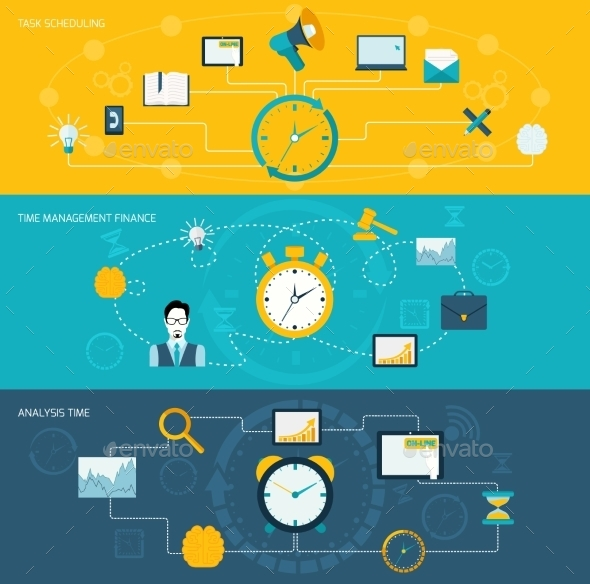 GraphicRiver Time Management Banner Set 9747224