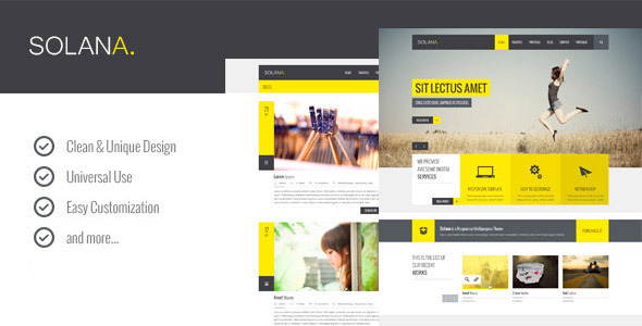 ThemeForest Solana Multipurpose Muse Template 9747327