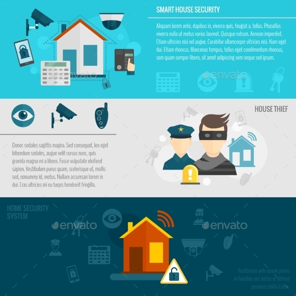 GraphicRiver Home Security Banner Set 9747345