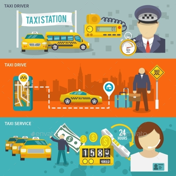 GraphicRiver Taxi Banner Set 9747353