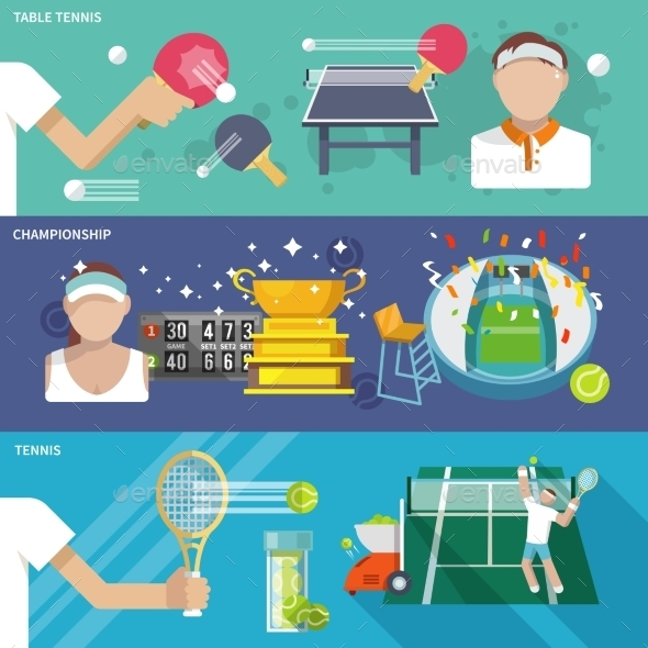 GraphicRiver Tennis Banner Set 9747357