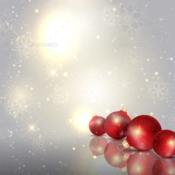 GraphicRiver Christmas Baubles Background 9747382