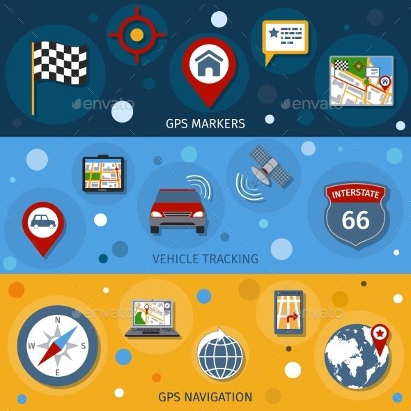 GraphicRiver Navigation Banners Set 9747386