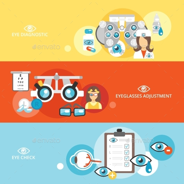 GraphicRiver Oculist Banner Set 9747396