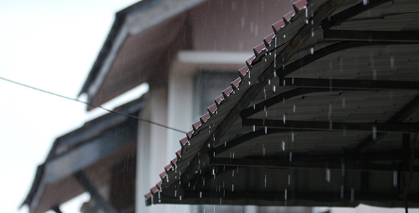 Rain From Metal Roof 02