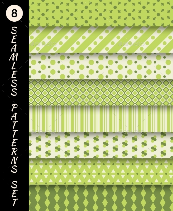 GraphicRiver Seamless Patterns Set 9747478