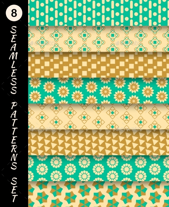 GraphicRiver Seamless Patterns Set 9747507