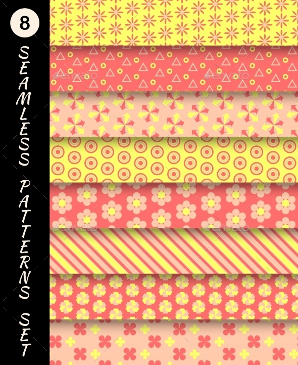 GraphicRiver Seamless Patterns Set 9747513