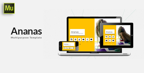 ThemeForest Ananas Multi purpose Adobe Muse Template 9673530