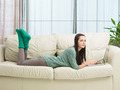 teenage girl relaxing at home - PhotoDune Item for Sale