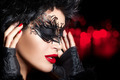 Creative Artistic Masquerade Makeup. High Fashion Portrait - PhotoDune Item for Sale