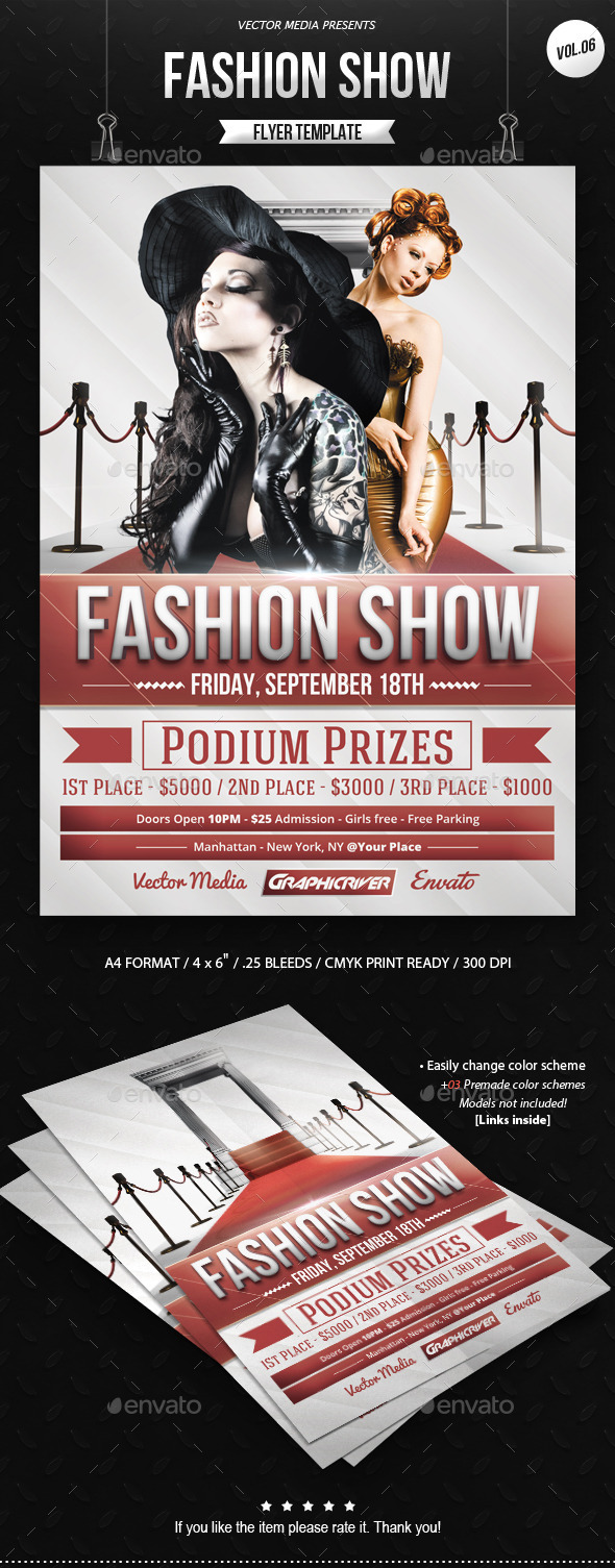 GraphicRiver Fashion Show Flyer [Vol.06] 9747921