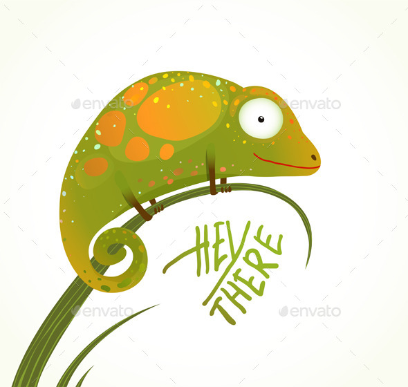 GraphicRiver Colorful Lizard 9748066