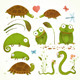 Cartoon Green Reptile Animals  - GraphicRiver Item for Sale