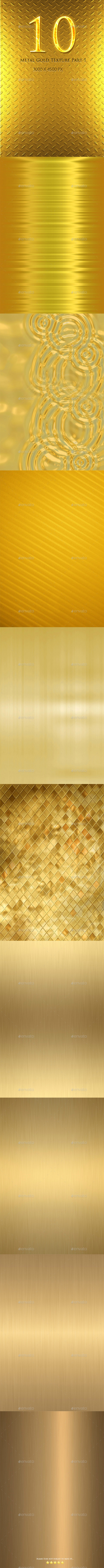 10 Metal Gold Texture Part 1