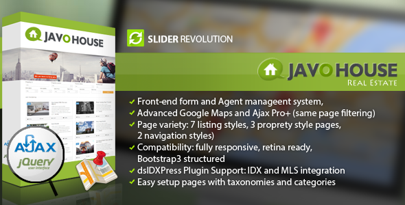 Javo House - Real Estate WordPress Theme