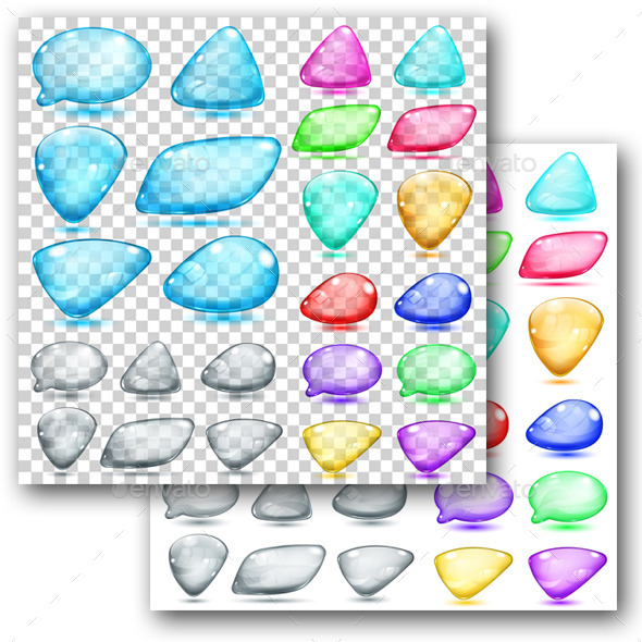 GraphicRiver Colored Glass Shapes 9748198