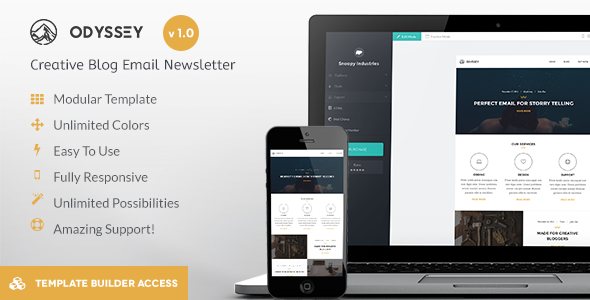 Odyssey Responsive Email & Drag&Drop Builder