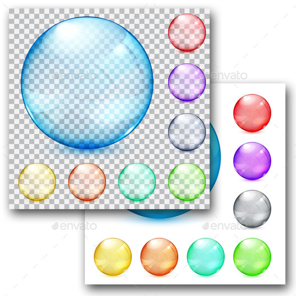 GraphicRiver Multicolored Glass Spheres 9748225