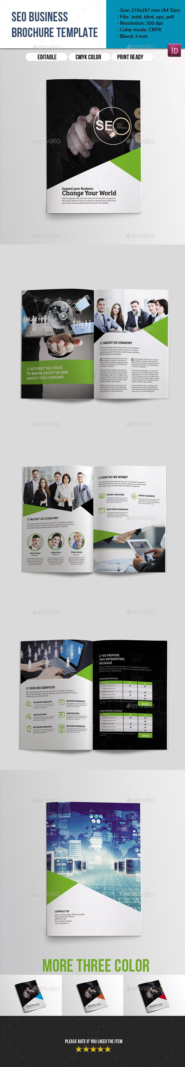 GraphicRiver 8 Pages SEO Business Brochure-Indesign Templae 9694430