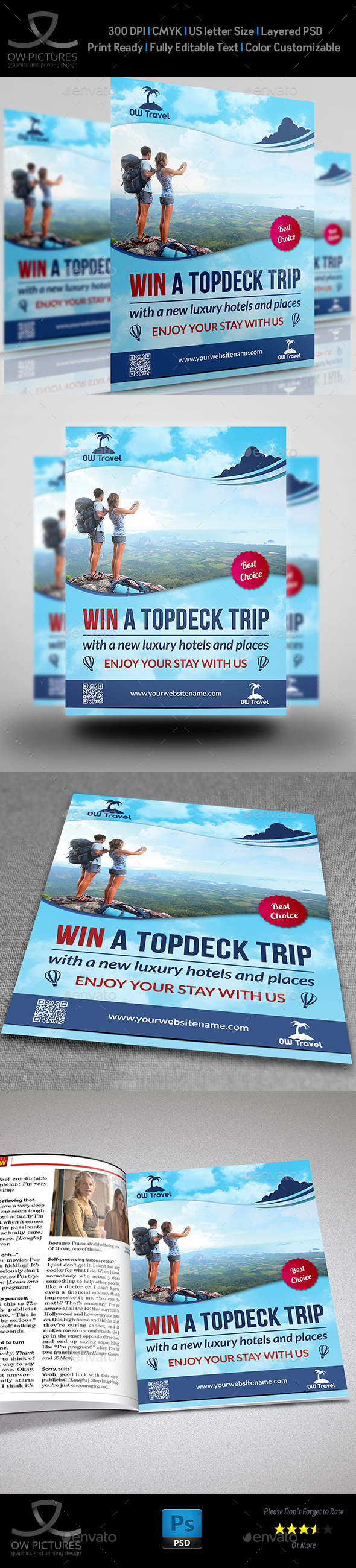 GraphicRiver Travel Company Flyer Vol.2 9748246