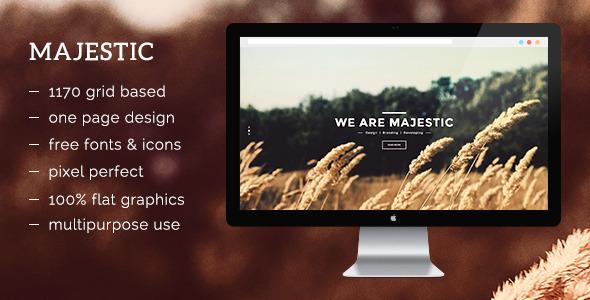 ThemeForest Majestic PSD 9748247