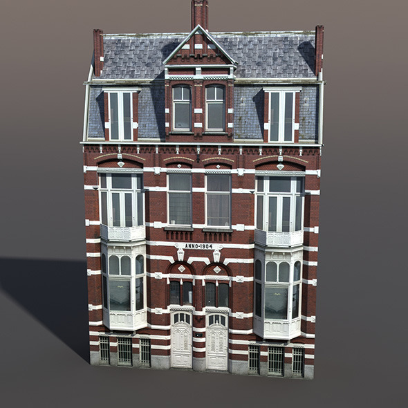 Apartment house #45 Low Poly 3D Model