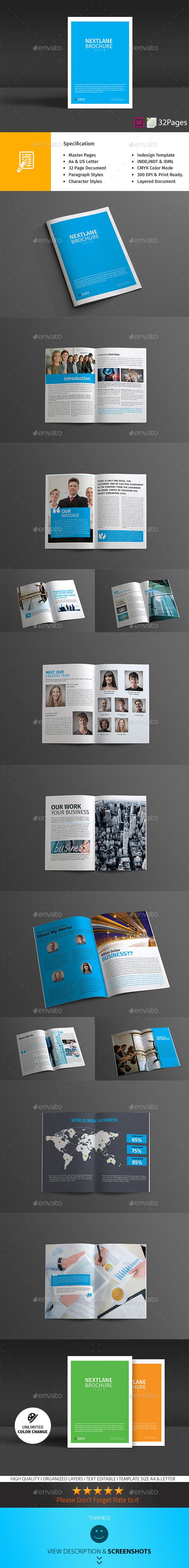 GraphicRiver Nextlane Brochure 9748316
