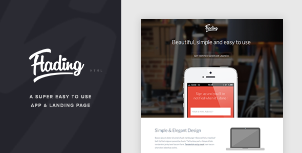 Flading - An Easy To Use Responsive Landing Page - Landing Pages Marketing
