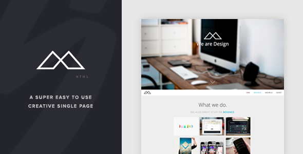 HALFCREATIVE - Responsive One Page HTML Template