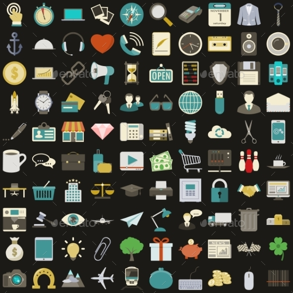 GraphicRiver Universal 100 Icons 9748875
