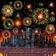 Firework City At Night - GraphicRiver Item for Sale