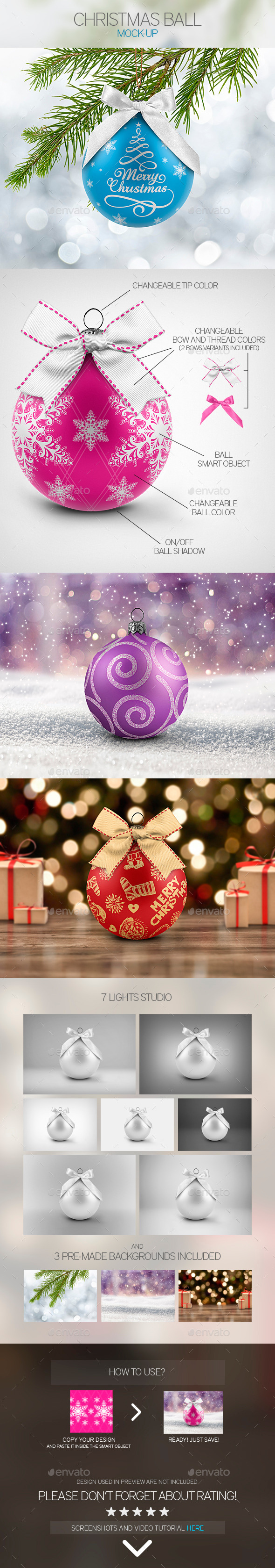 GraphicRiver Christmas Ball Mock-Up 9749507