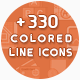 330 Colored Line Icons - GraphicRiver Item for Sale
