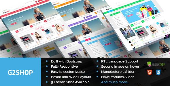 ThemeForest G2Shop Premium Responsive Prestashop Theme 9749633