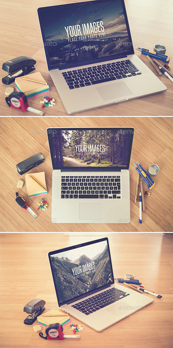 GraphicRiver Desk II Realistic Mock Up 9749805