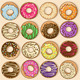 Icons of colorful donuts - GraphicRiver Item for Sale