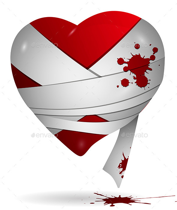 GraphicRiver Heart in Bandages 9749946