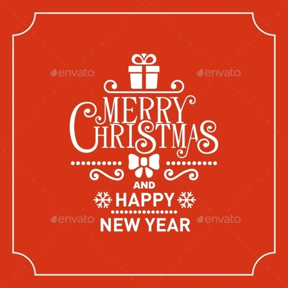 GraphicRiver Red Christmas Greeting Card Background 9749951