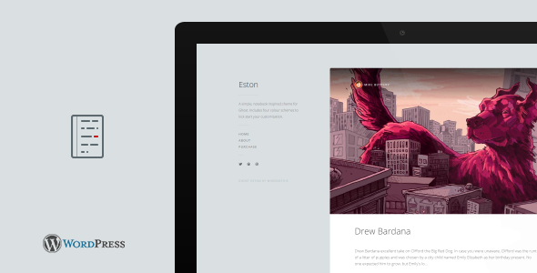 ThemeForest Eston A Simple Notebook WordPress Blog Theme 9750632