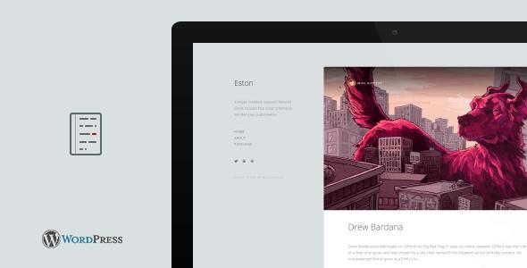 Eston - A Simple Notebook WordPress Blog Theme
