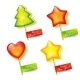 Four Bright Holiday Lollipops - GraphicRiver Item for Sale