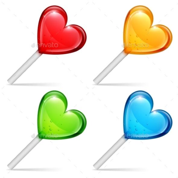 GraphicRiver Heart Lollipops 9750647