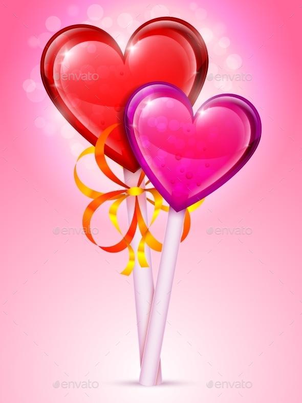 GraphicRiver Heart Lollipops 9750652