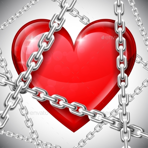 GraphicRiver Heart and Chains 9750662