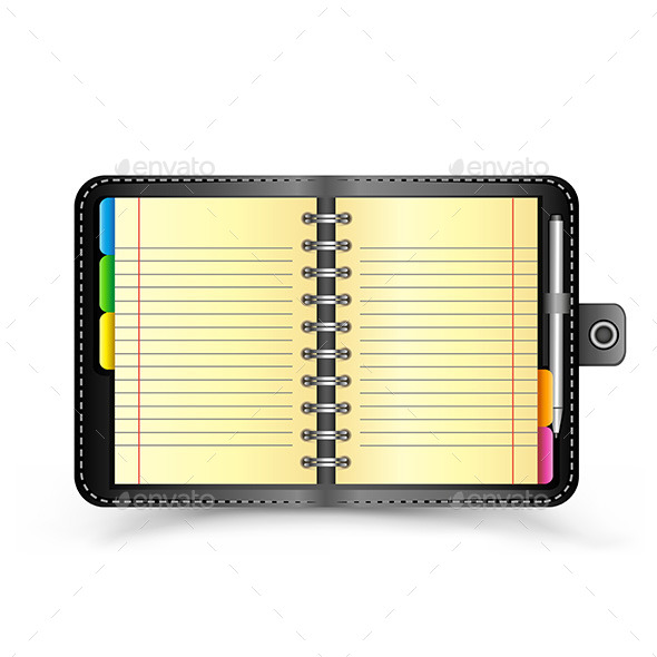 GraphicRiver Open Black Notebook 9750747