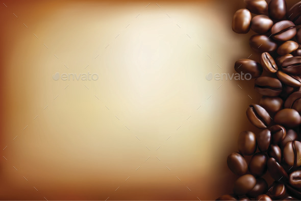 GraphicRiver Background with Coffee Beans and Old Paper 9750859