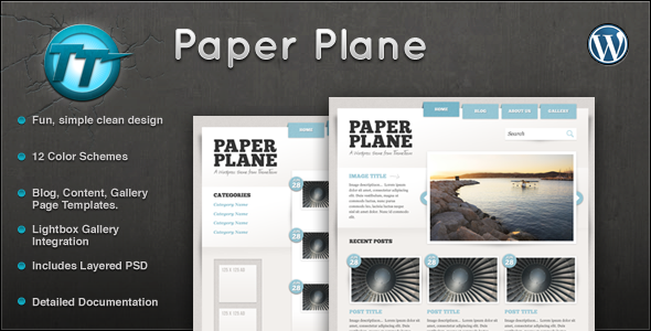 Paper Plane Wordpress Theme