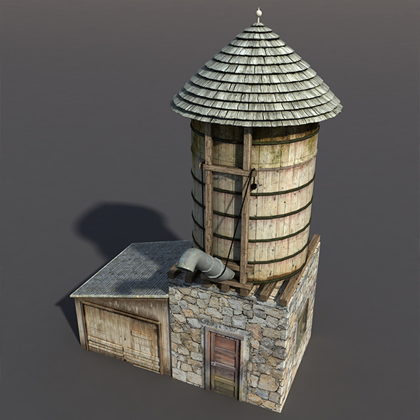Water Tank #3 - 3DOcean Item for Sale